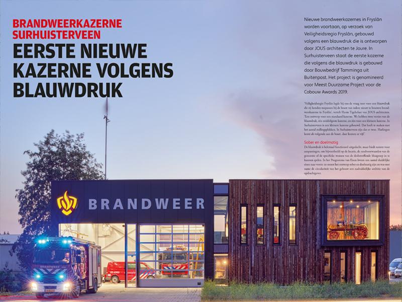 JOUS architecten Joure_artikel Bouwen in het Noorden brandweer Surhuisterveen