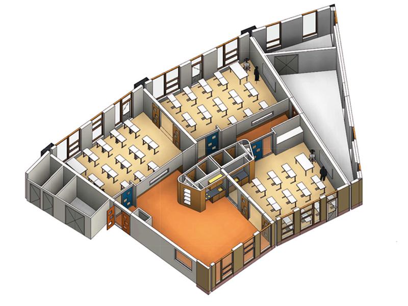JOUS architecten Joure_MFA De Spil De Burcht Heerenveen