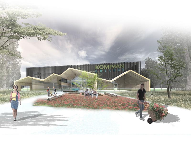 JOUS architecten_nieuwbouw Kompaan College 2