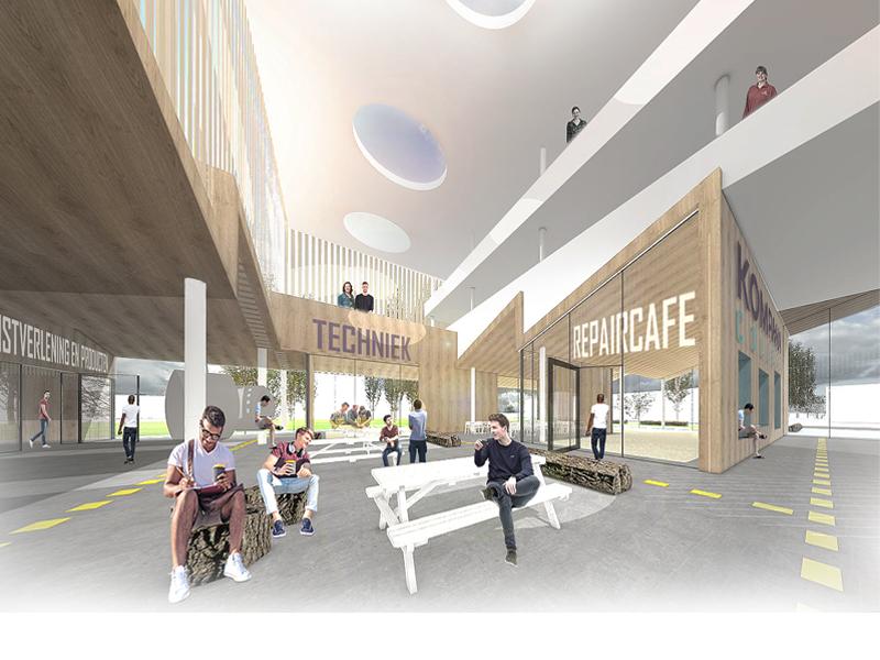 JOUS architecten_nieuwbouw Kompaan College 3