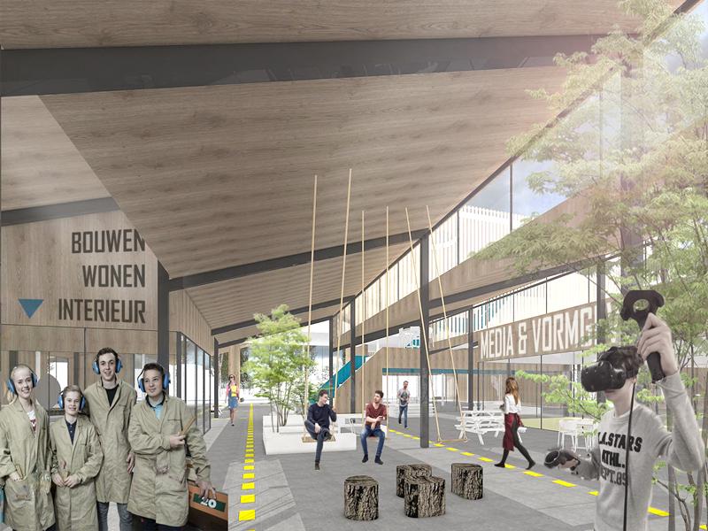 JOUS architecten_nieuwbouw Kompaan College 6